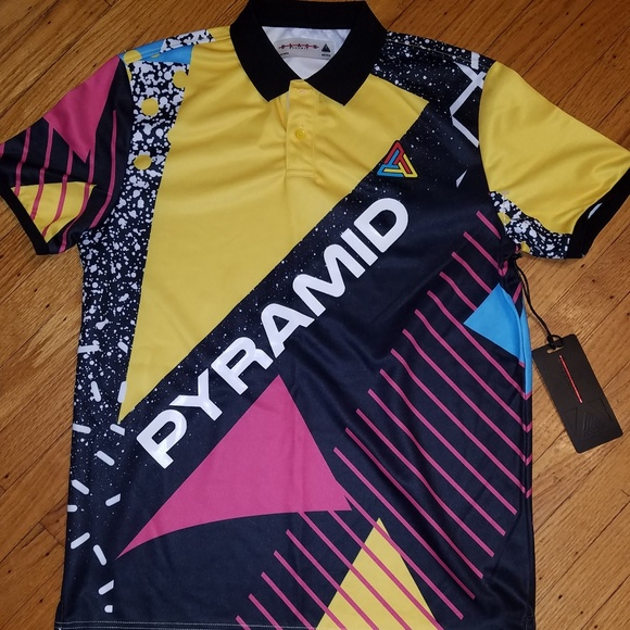 Black Pyramid Other - Black Pyramid Color Block Polo Shirt | Med | NWT